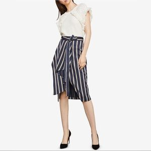 BCBGMAXAZRIA Striped Asymmetrical Pencil Skirt